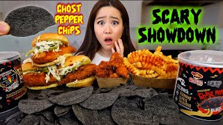 GHOST PEPPER CHIPS CHALLENGE/MUKBANG *Crying