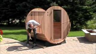 Video Showing The Elite Barrel Sauna Assembly