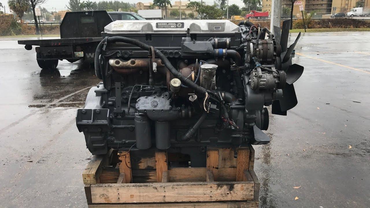 Detroit Series 60 12 7 Diesel Engine For Sale At JJ REBUILDERS INC Being  Tested