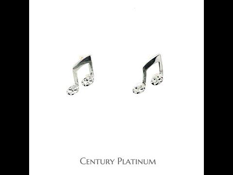 世紀白金 【白金耳環】 音符 音樂 WEB037