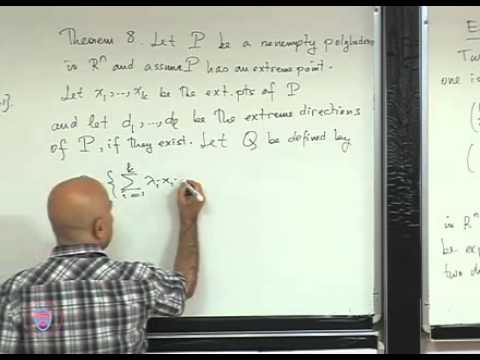 IE513 20110307 LECTURE16   Directions and unbounded LPs, extreme directions, representation theorem