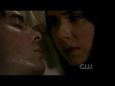 Vampire Diaries   Season 2 Episode 22   2x22   Damon's and Elena's Kiss Scene   Delena Love