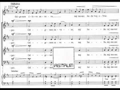 Andrej Makor : PRAV PO PRSTIH (Marko Margon) za ST solo in mešani zbor (SATB div)
