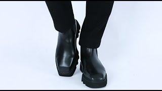 롤프 남자 남성 소가죽 앵클 부츠 워커 신발 겨울 가을…