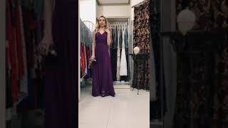 G 3057 Платье вечернее с просветом из евросетки на талии video