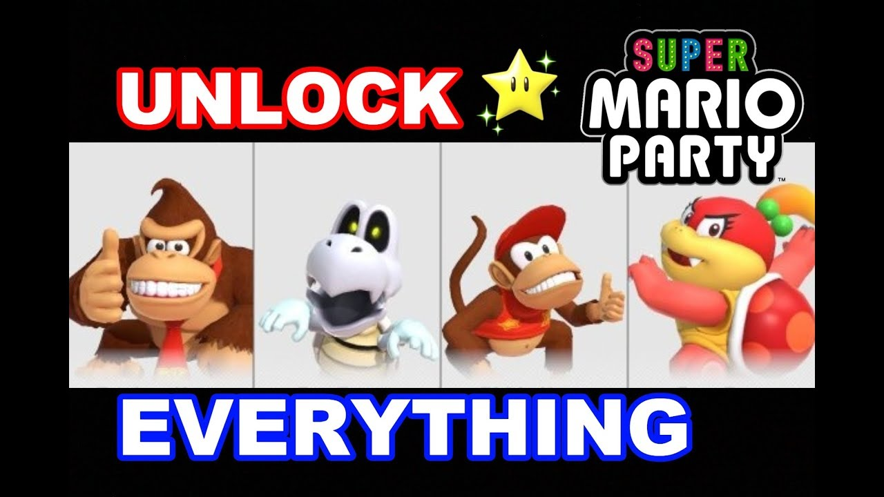 Super Mario Party - How to Unlock EVERYTHING (Characters, Boards, Modes, &  Gems)