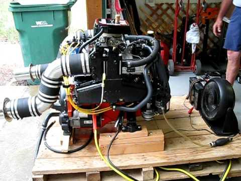350 SBC Marine Engine Startup