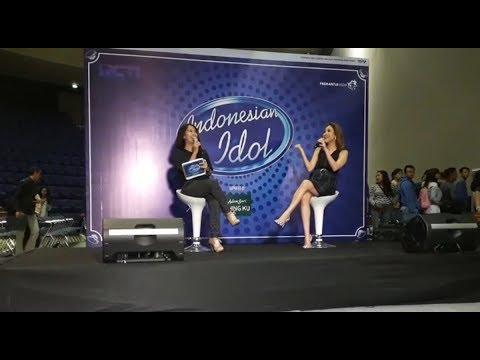 Beginilah Keseruhan BCL Saat Memberikan Semangat Peserta Audisi Indonesian Idol di Sabuga Bandung
