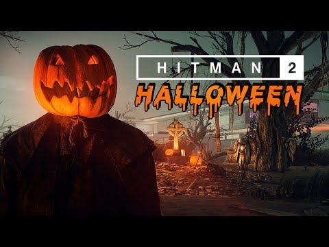 Agent 47 puts a pumpkin on his head to tease Hitman 2's Halloween horrors | PC Gamer