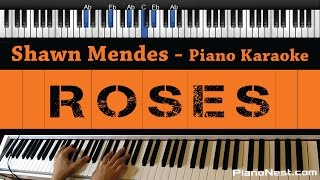 Shawn Mendes - Roses - Piano Karaoke / Sing Along / Cover with Lyrics