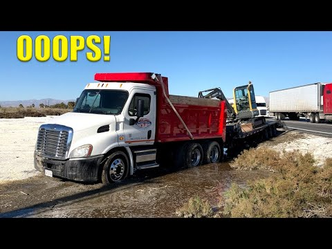 Dump Truck Goes Offroading FAIL!