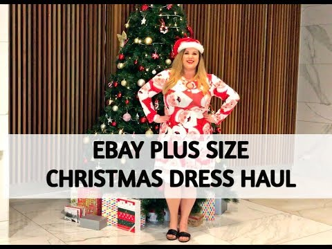 EBAY PLUS SIZE CHRISTMAS DRESS HAUL
