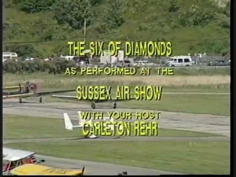 "Six of Diamonds aerobatic team on ""Wings Over New Jersey"" TV program"