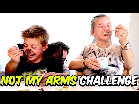 Not My Arms Challenge 💪 Völlig überfordert mit dem Schokopudding 😂 Lulu & Leon