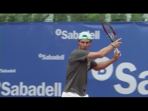 Nadal 'working hard' to improve for Barcelona [AMBIENT]