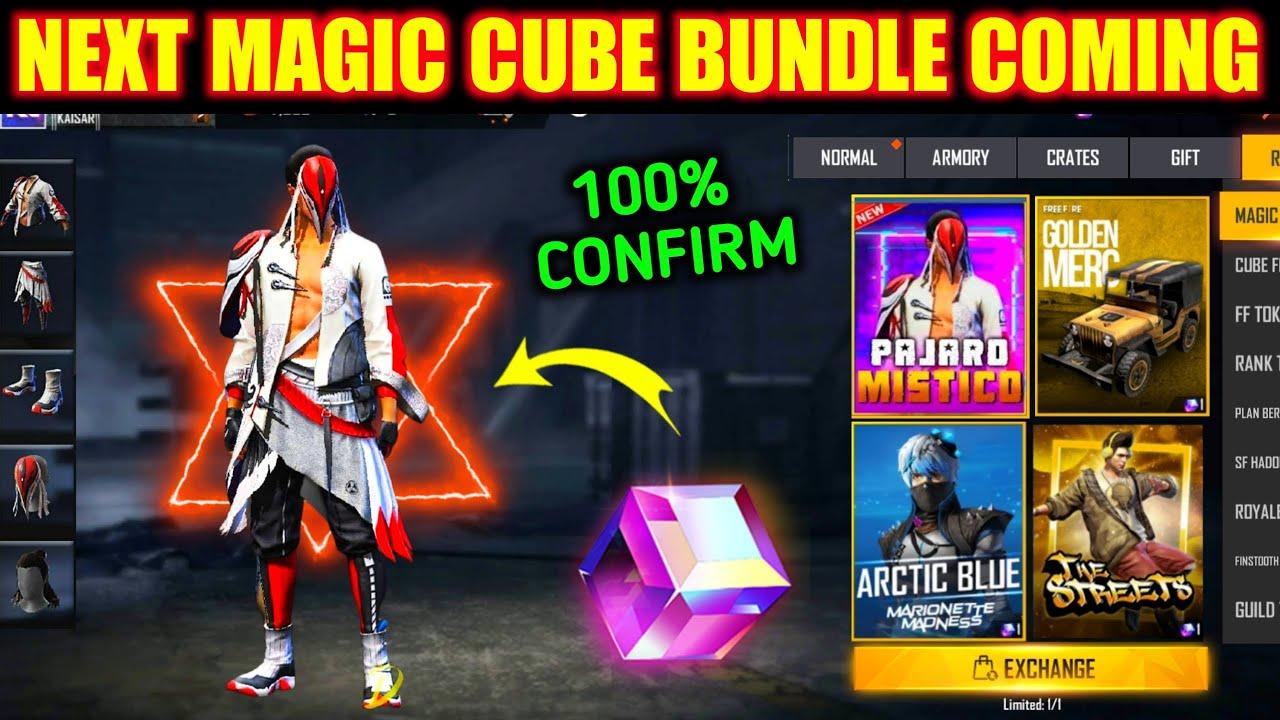 Free Fire Magic Cube   Upcoming Magic Cube Dress In Free Fire   Magic Cube New Bundle 2021  FreeFire