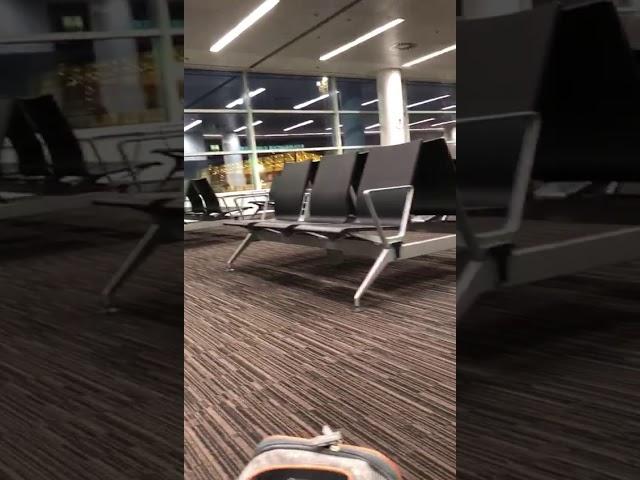 Anjuna im Wartebereich am Airport