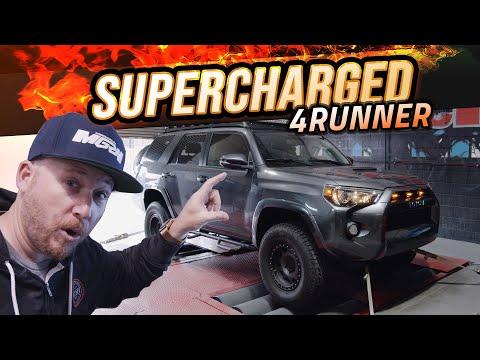 We Supercharged The Toyota 4Runner With Magnuson! Dyno & Offroad Test Drive!