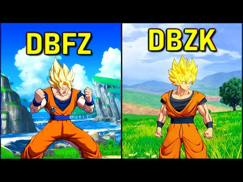 Goku - All Forms & Attacks | DBZ Kakarot vs DBFZ [SSJ-SSJ3-SSJ4-KX4]