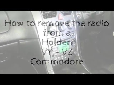 How to remove the radio from a Holden VY - VZ Commodore