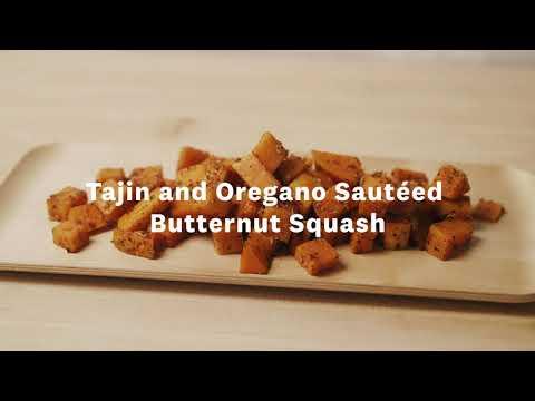 Thumbnail to launch Tajin and Oregano Sautéed Butternut Squash video