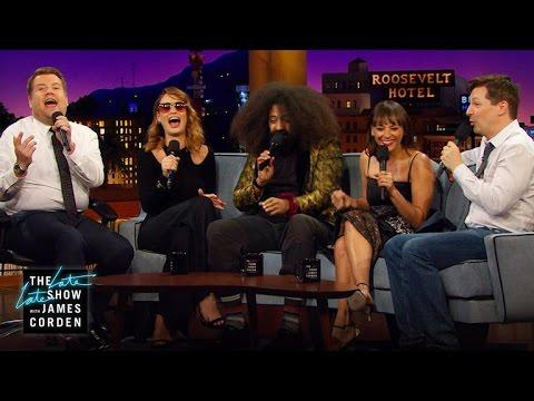 Beatboxing w/ Sean Hayes, Lily James, Rashida Jones & Reggie Watts