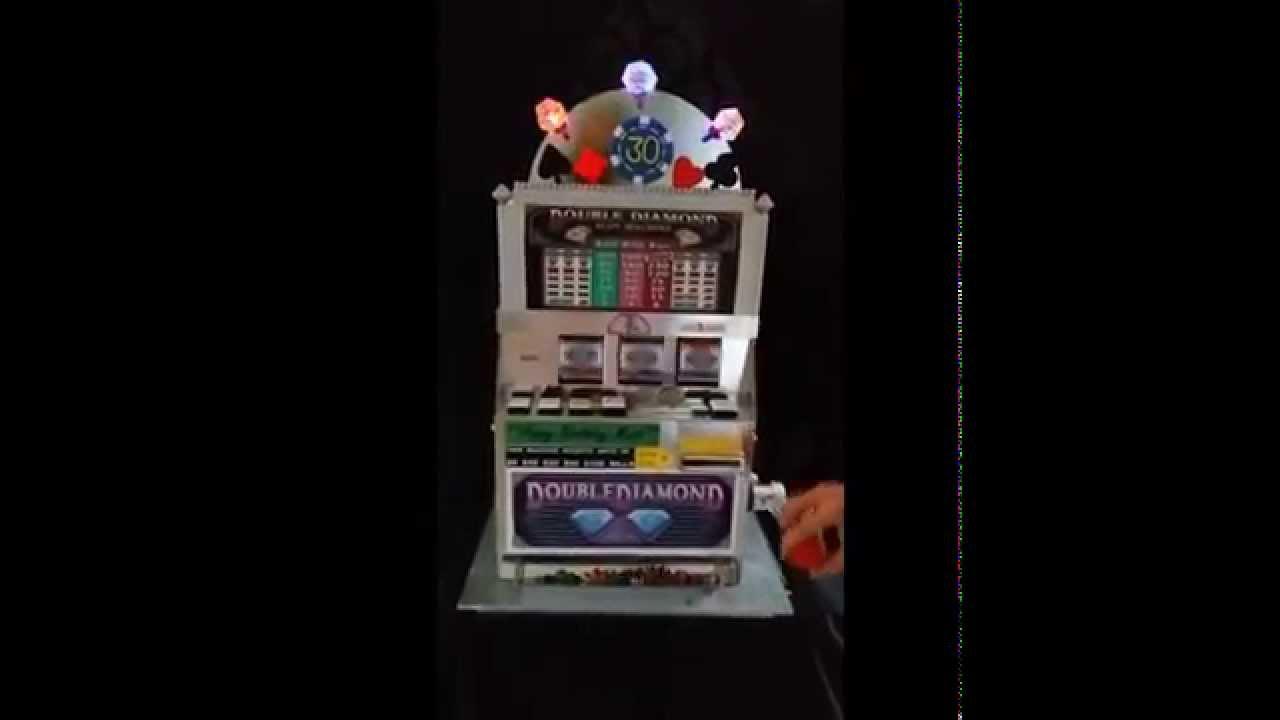 Casino Slot Machine Birthday Cake That Spins And Dispenses Youtube