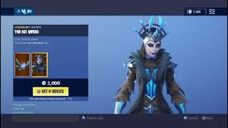 NEW ICE QUEEN SKIN ITEM SHOP FORTNITE BATTLE ROYAL - January 19th 2019