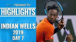 Federer, Monfils & Nadal Delight In Tennis Paradise | Indian Wells Day 7 Highlights