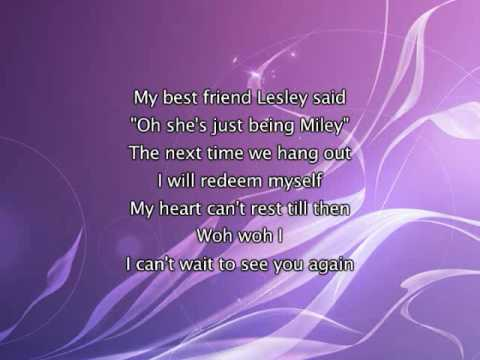 Miley Cyrus -  See You Again, Lyrics In Video