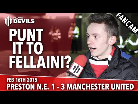 Punt it to Fellaini? - Preston North End 1 Manchester United 3 - FANCAM - 동영상
