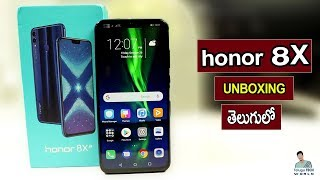 honor 8X Mid-Range Smartphone Unboxing & Firstimpression In 2018 (TELUGU)