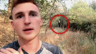 I FOUND SLENDERMAN IN THE WOODS.. (HE WAS BEHIND ME)