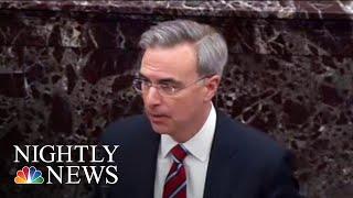 Trump's Team Kicks Off Formal Defense In Impeachment Trial | NBC Nightly News