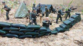 Soldiers base camp Action figure Toy soldiers Army men Video for kids