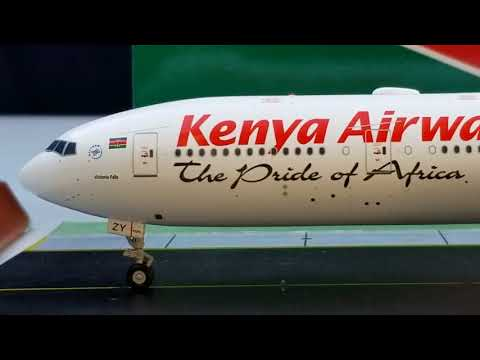 JC Wings 200 Kenya Airways B777-300ER(Advanced Engine Option)Review FHD(Full High Definition)