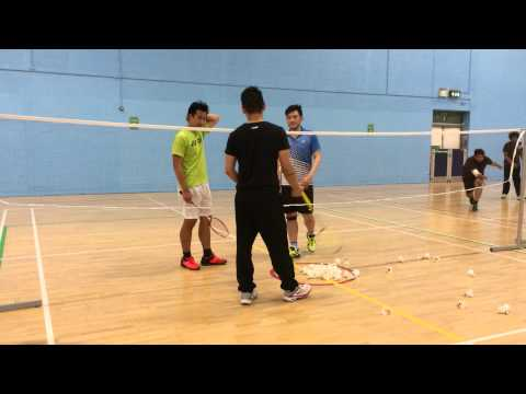 Vince Cheung & Martin Lieu Badminton Training Session 11.09.15