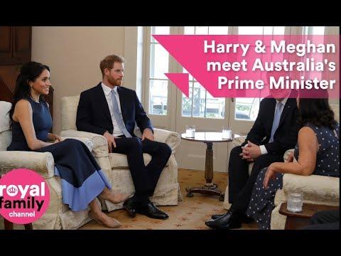 Harry and Meghan meet Australian Prime Minister