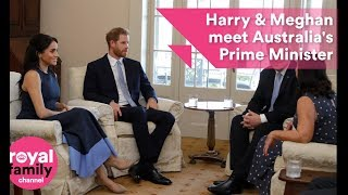 Harry and Meghan meet Australian Prime Minister