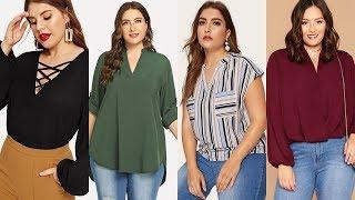 Модные Блузки Для Полных Женщин Весна Лето 2020 60