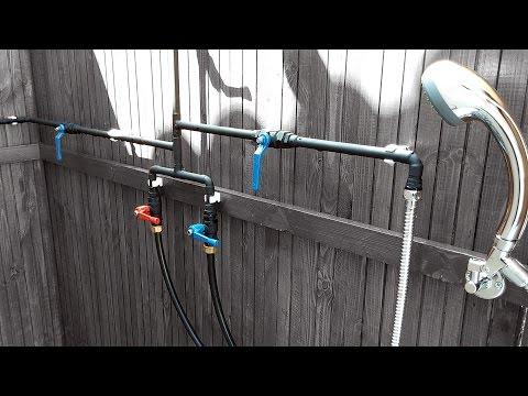 Luxurious Outdoor Shower - Part 4 [Door & Plumbing]