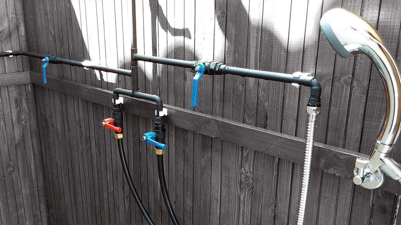 luxurious outdoor shower part 4 door plumbing