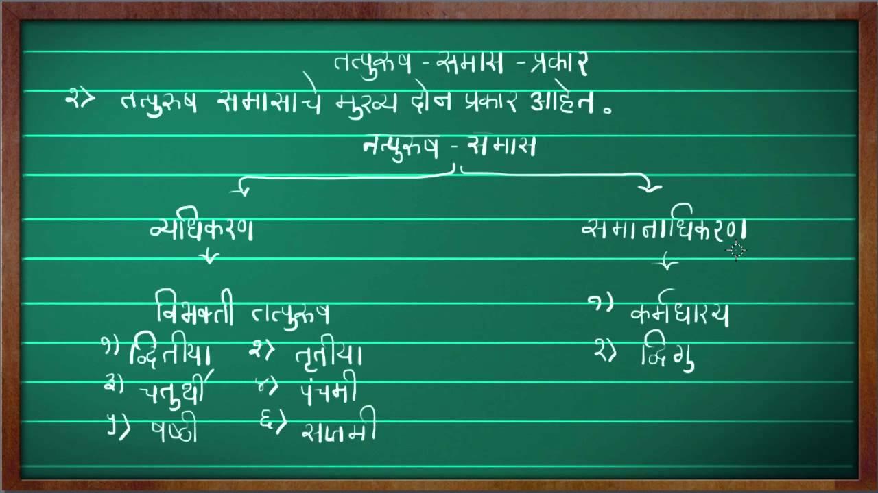 Sanskrit grammer training video types of compound samas compound.