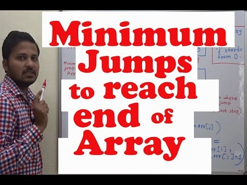 Minimum jumps to reach end of array (Dynamic Programming)