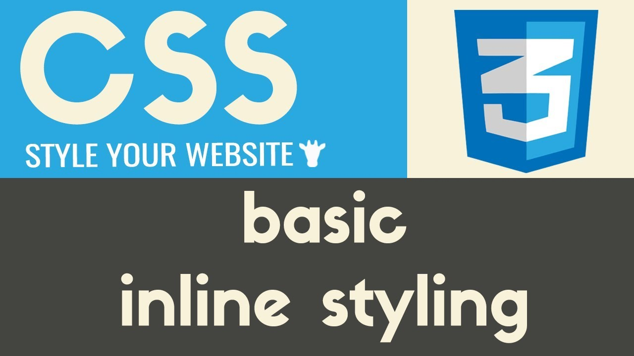 Basic inline styling | css | tutorial 2 youtube.