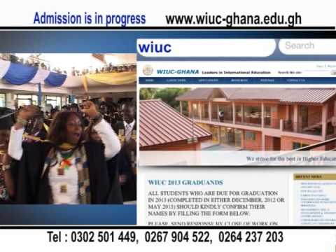 Wisconsin International University College, Ghana -  Law and B.Sc. IT