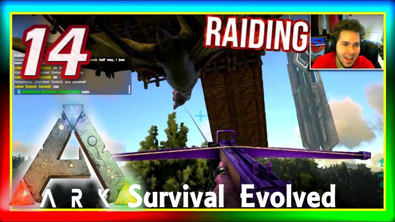 "ARK Survival Evolved PVP #14: ""Terror Bird & GRAPPLING ..."