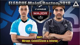 Cloud9 vs SK ELEAGUE Major Boston 2018 maps Mirage, Cobblestone & Inferno CSGO