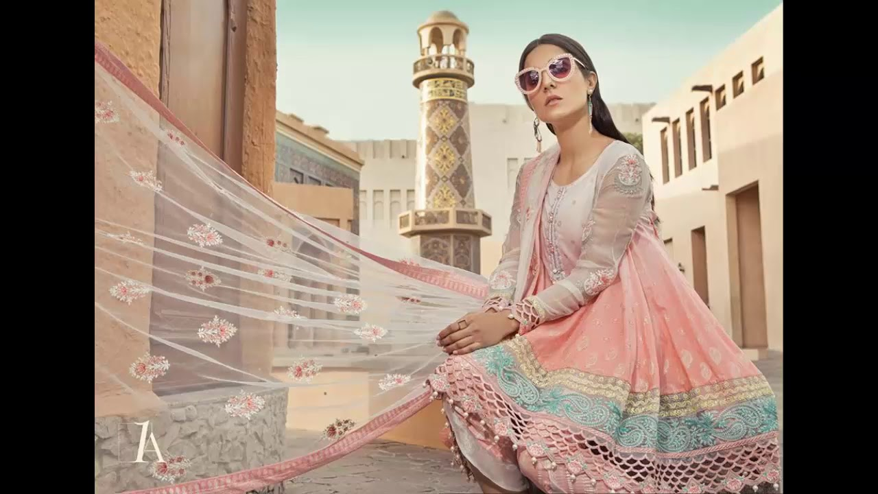 aba037aa33 Maria B Summer Embroidered Lawn Collection 2019 - YouTube