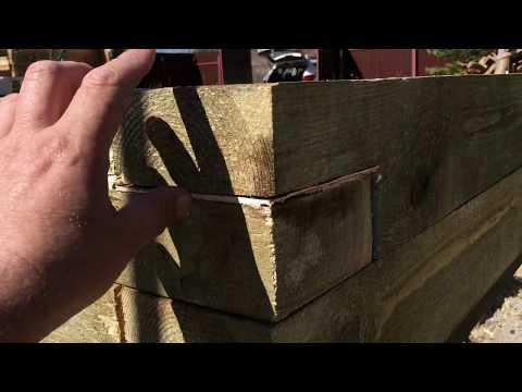 видео: Обвязка винтовых свай брусом.